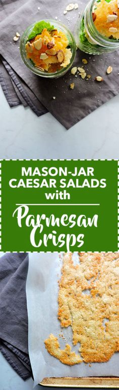 Mason Jar Salads with Parmesan Crisps
