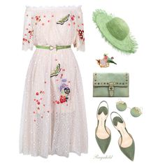 Spring Feeling Dress💐 by ragnh-mjos on Polyvore featuring polyvore, fashion, style, Temperley London, Paul Andrew, Patricia Nash, Les Néréides, Sensi Studio, Full Tilt and clothing