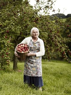 grandmother and apples