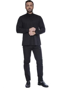 PAGAMENTO ANCHE ALLA CONSEGNA Camicia Uomo Manica Lunga collo Coreana