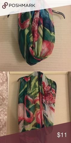 Scarf Sheer and light weight floral print scarf. Multicolored Accessories Scarves & Wraps