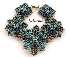Tutorial Blue Square Bracelet