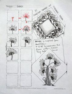 Tangle - DANDI, by Sandhya Manne, Certified Zentangle Teacher, zentempletangles.com by carlani
