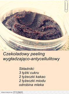 Peeling ;P na Domowe sposoby na Stylowi.pl Fitness Planner, Sephora, Smoothie, Hair Makeup, Health, Food, Syrup, Coffee, Diy