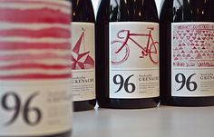 96 Wine labels hand painted using the wine itself.
