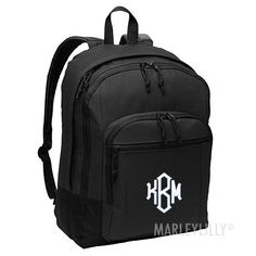 Monogrammed Value Backpack from Marleylilly.com! #marleylilly #backpack