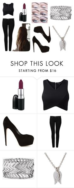 """""""0.5"""" by awko-hemmo ❤ liked on Polyvore featuring MAC Cosmetics, Brian Atwood, Mavi, Express and Minor Obsessions"""