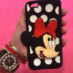 Disney Minnie Mouse Polka Dot IPhone 6 Plus case New. iPhone 6 Plus. Silicone. Accessories Phone Cases