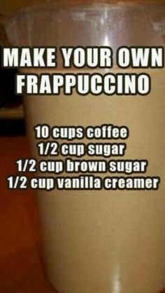 How to make your own frappuccino!!