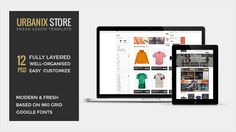 Urbanix Store - Eshop Template | Free and premium mousemade pixel perfect graphic design and web resources. | pixel-fabric.com
