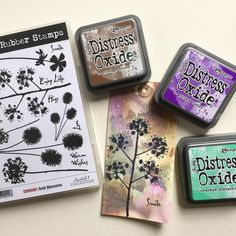 "164 Likes, 3 Comments - Rubber Stamps & Craft Supplies (@darkroom_door) on Instagram: ""Distress Oxide inks make the perfect background! Now back in stock at @darkroom_door …"""