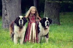 Une magnifique Princesse bien escortée...