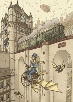 Steampunk Tendencies | Art by Domagoj Rapcak #Illustration #Steampunk