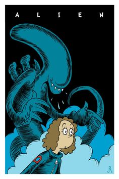 "ericlahti: ""If Dr. Seuss drew Alien """