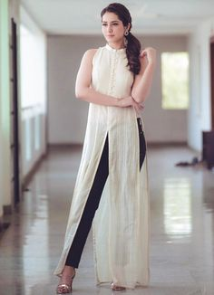 Telugu Model Rashi Khanna Photo Shoot In White Sleeveless Dress - Tollywood Stars Dress Indian Style, Indian Dresses, Indian Outfits, Stylish Dresses, Casual Dresses, Fashion Dresses, Kurta Designs Women, Blouse Designs, Indian Designer Outfits