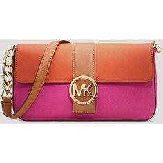 Michael Michael Kors Shoulder Bag - Small Flap ($198)  liked on Polyvore