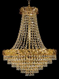 Crystal Chandelier (Crystal Chandeliers): Crystal chandelier manufactured in Spain by expert handcrafters. All the manufacturing process it is hand made as sons learned from fathers during . Crystal Chandelier Lighting, Gold Chandelier, Old Wood Floors, Elegant Chandeliers, Dining Room Lighting, Light Up, Light Fixtures, Ceiling Lights, Crystals
