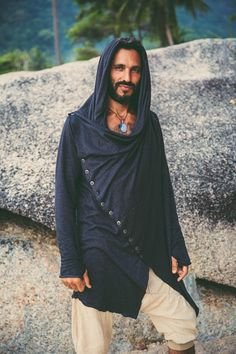 A personal favourite from my Etsy shop https://www.etsy.com/listing/536585855/jedi-style-hoodie-button-hoodie-bedouin