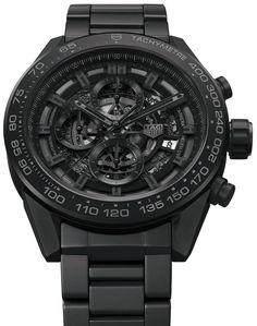 TAG Heuer Carrera Heuer-01 Full Black Matt Ceramic Watch For CHF7,000