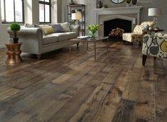 Dark Stained White Oak House Style Hardwood Floor