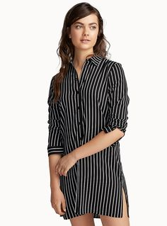 Chic black and white nightshirt | Miiyu | Women's Pyjamas and Loungewear Online | Simons