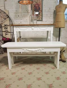 Painted Cottage Chic Shabby White Farmhouse by paintedcottages, $130.00