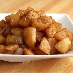 """Potato with soy sauce (""""gamja jorim"""") @keyingredient"""