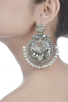 ~ Bali by www. Amrapali Jewellery, Fancy Jewellery, Oxidised Jewellery, Vintage Jewellery, Antique Jewelry, Metal Jewelry, Jewelery, Silver Jewelry, Silver Earrings