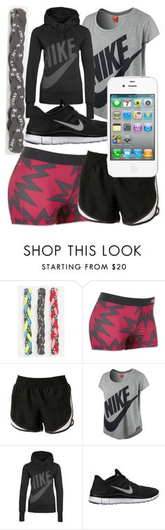 """""""I work out"""" by savannah-rogers ❤ liked on Polyvore featuring Under Armour, NIKE and Tek Gear"""