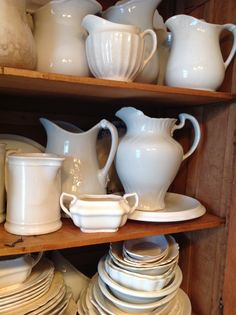 Old ironstone pitchers