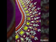Embroidery On Kurtis, Kurti Embroidery Design, Hand Embroidery Designs, Embroidery Patterns, Beauty Tips For Glowing Skin, Maggam Work Designs, Bridal Blouse Designs, Work Blouse, Embroidered Blouse