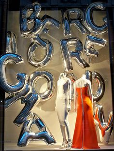 Could be fun with these large mylar letters - mylar tends to hold it's air for longer. I wonder HOW long though. Might be worth it for a SALE event short term window Silver Balloons 2 (twilight) by Viridia, via Flickr