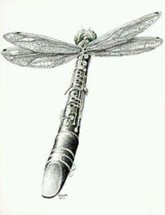 Dragonfly clarinet