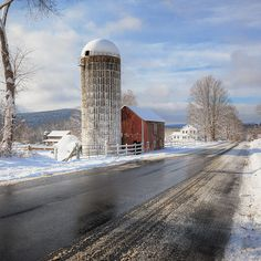 Winter in Litchfield county Connecticut