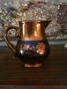 Copper Luster Pitcher Copper Dishes, Copper Tea Kettle, Copper Decor, Blue And Copper, Iron Decor, Glass Ceramic, Fine China, Nooks, Luster