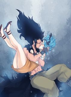 Levy and Gajeel on Pinterest | Fairy Tail, Gale Fairy Tail ...