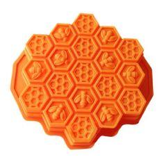 Wholeport Honeycomb Cake Molds for Kids 17-Hole Silicone ...