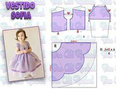 Best 11 Veja a publicação completa no site. Baby Girl Dress Patterns, Doll Dress Patterns, Baby Clothes Patterns, Kids Patterns, Little Girl Dresses, Mode Junior, Kids Gown, Baby Frocks Designs, Kids Frocks