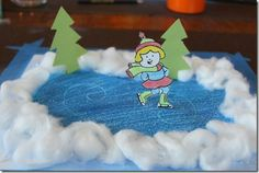 Ice Skating Craft, great for winter You are in the right place about Winter Sports Crafts for Toddle Winter Art Projects, Winter Project, Winter Crafts For Kids, Art For Kids, Norway Crafts For Kids, Winter Activities, Craft Activities, Preschool Crafts, Kids Crafts