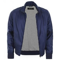 Gucci Dark Blue Nylon Mini GG Jacquard Jacket ($1,285) ❤ liked on Polyvore featuring gucci