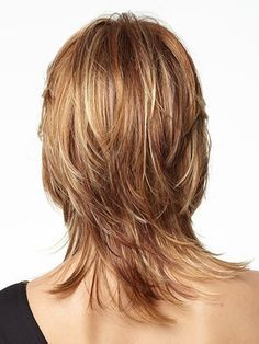 Fashion Flaxen Straight Contemporary Heat-resistant Fiber Medium Wig For Women - Thin Hair Cuts Thin Hair Cuts, Medium Hair Cuts, Medium Hair Styles, Short Hair Styles, Shaggy Haircuts, Layered Hair, Great Hair, Fine Hair, Straight Hairstyles
