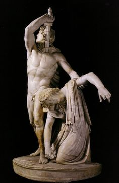 Gaul Killing Himself and his Wife (The Ludovisi Gaul). Second century Roman copy after a Hellenistic original c. 230-220 BC. Museo Nazionale di Roma, Palazzo Altemps.