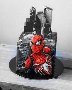 Spiderman Birthday Cake, Superhero Cake, Cake Birthday, Fancy Cakes, Cute Cakes, Marvel Cake, Batman Cakes, Cupcakes Decorados, Cake Wrecks
