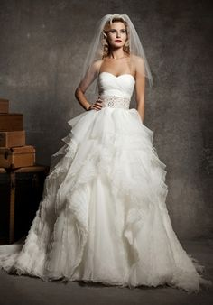 Justin Alexander Wedding Dresses - I wish I could pull something like this off!