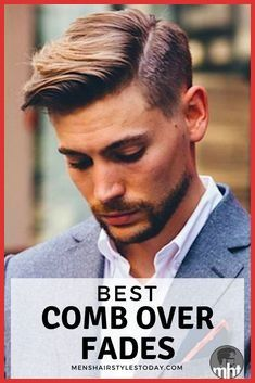 Mens Comb Over Hairstyle Mens Hairstyles Fade, Cool Hairstyles For Men, Undercut Hairstyles, Cool Haircuts, Haircuts For Men, Modern Haircuts, Wedding Hairstyles, Men's Haircuts, Medium Hairstyles
