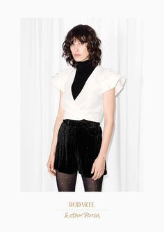 & Other Stories image 2 of Rodarte Ruffled Cropped Top  in White
