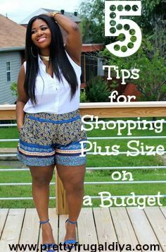 5 tips for plus size fashion on a budget. Five tips and list of stores to get your plus size fashions. #fashion #plussize #frugal