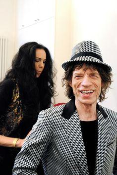 Jagger wearing LWren Scott Jacket and Stephen Jones Fedora