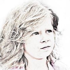 Lynette...this made me think of you....Custom Portrait  Digital Sketch  Custom by BrushedByDigital