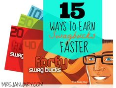 Earn Swagbucks Faster: 15 Ways To Earn Swag Bucks via MrsJanuary.com - Want free stuff? Sign up to Swagbucks and earn free prizes and gift cards, easily. It really does work (not a scam)!